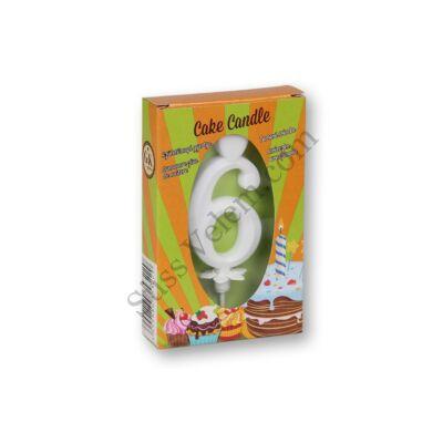 6 szám gyertya