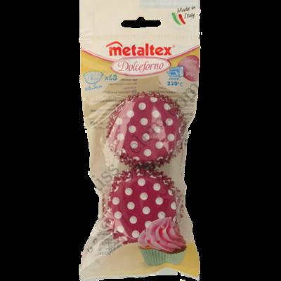 60 db színes pöttyös Metaltex muffin papír