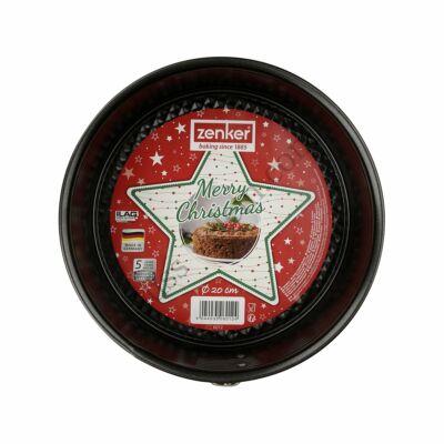 Karácsonyi csomagolású 20 cm-es Zenker kapcsos tortaforma