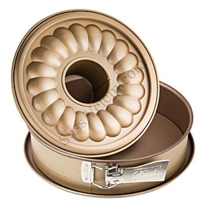 26 cm-es Zenker Mojave Gold kapcsos tortaforma kuglóf betéttel