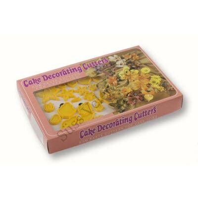 75 részes fondant virág kiszúró készlet