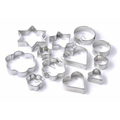 12 részes Zenker fém sütikiszúró készlet
