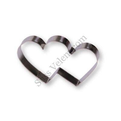 8,5 cm-es dupla szív keksz kiszúró forma