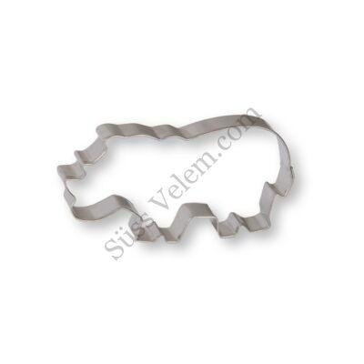 8,5 cm-es orrszarvú alakú sütikiszúró forma