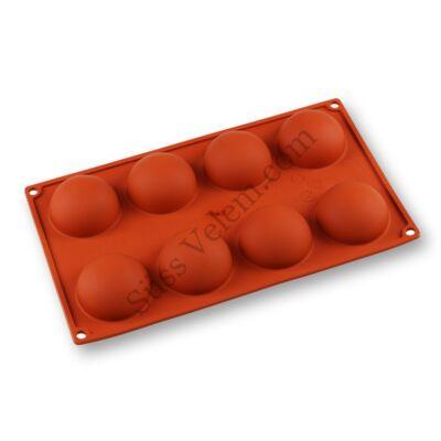 8 adagos félgömb alakú szilikon sütőforma Paderno