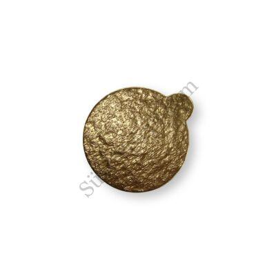 8 cm-es arany színű kerek desszertalátét karton