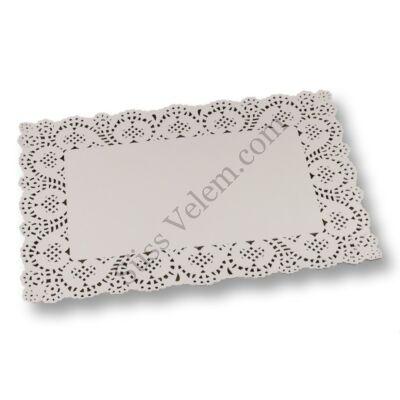 8 db 30*40 cm-es fehér tortacsipke