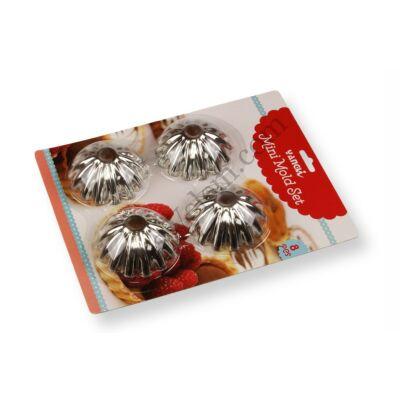 8 részes lekerekítet kosárka sütőforma készlet