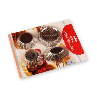 8 részes mini sütőforma készlet 4 -féle B minta