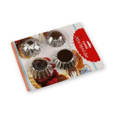 8 részes mini sütőforma készlet 4 -féle D minta