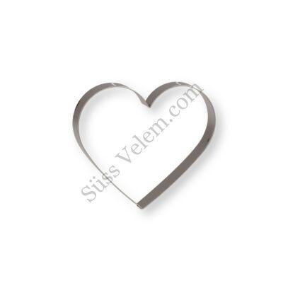 9,5 cm-es mézeskalács szív kiszúró forma