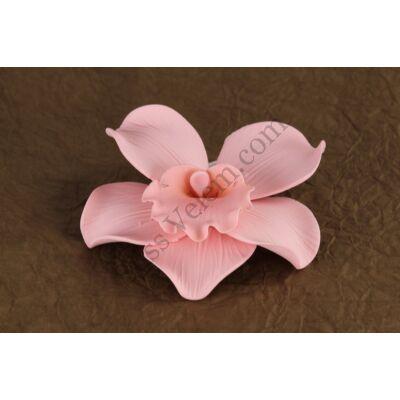 9 db rózsaszín óriás orchidea cukor (nem ehető)