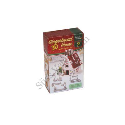 9 részes karácsonyi mézeskalács házikó kiszúró készlet