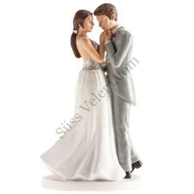 BÉCS romantikus nászpár esküvői tortadísz