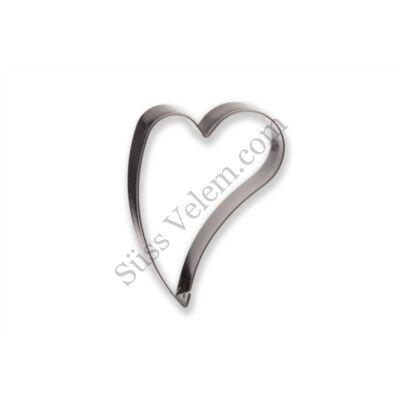 7 cm-es ferde szív süti kiszúró