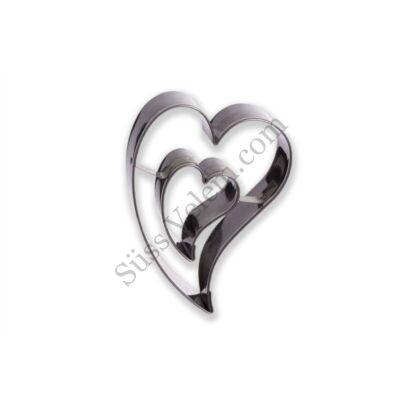 Ferde szív lyukas közepű linzer kiszúró
