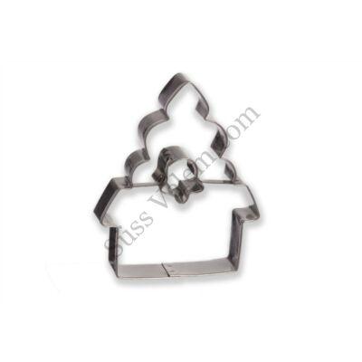 Kápolna alakú harang közepű linzer kiszúró