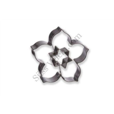 6 cm-es liliom virág csillag középpel linzer kiszúró