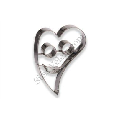 Ferde szív mosolygós közepű linzer kiszúró