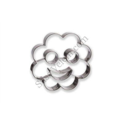 7,5 cm-es virág alakú Smiley linzer kiszúró
