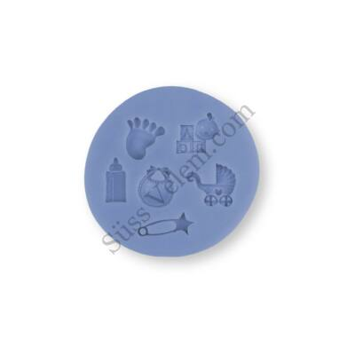 Apró babás motívumok szilikon forma keresztelői tortadíszítéshez