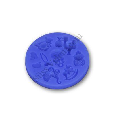 Apró gyerekjátékok szilikon fondant forma