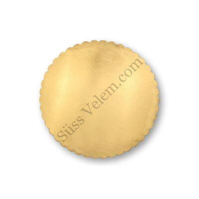 Arany karton tortaalátét fodros 20 cm