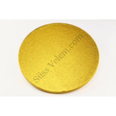 Arany színű 30,5 cm-es kerek tortadob
