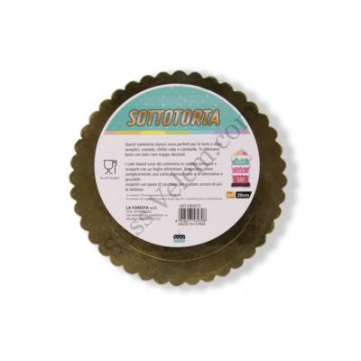25 cm-es arany színű fodros tortakarton