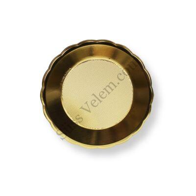 Arany színű kerek tortaalátét műanyag 24 cm