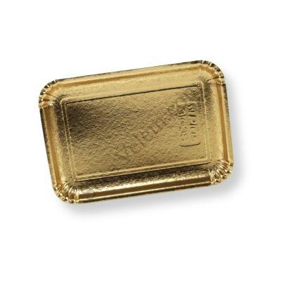 Arany színű téglalap alakú tortaalátét karton 20*14 cm