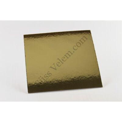 Szögletes 25*25 cm-es arany színű tortakarton