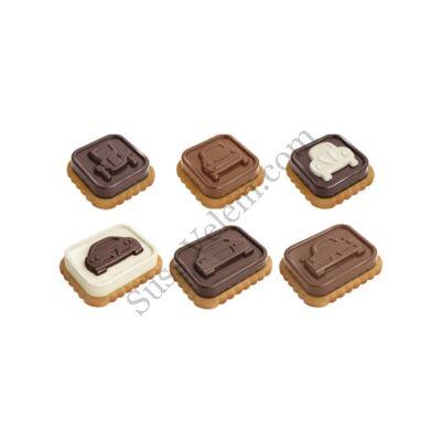 Autók szilikonos csokis keksz készítő forma Tescoma Delicia Choco