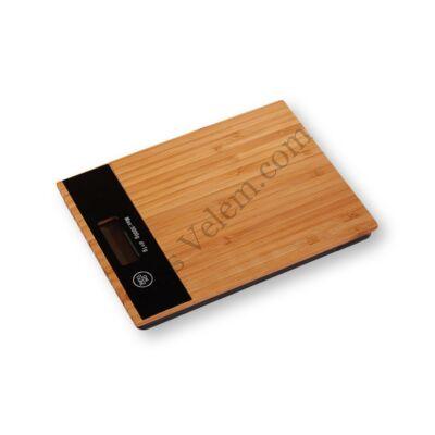 Bambusz digitális konyhai mérleg