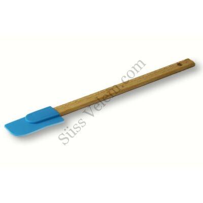 Bambusz nyelű szilikon fejű spatula