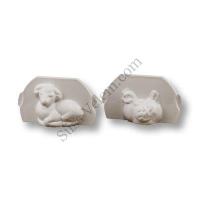 Bárány és tyúk sütemény forma sütés nélküli süteményekhez