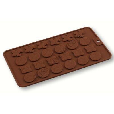 Barokk mintás csokoládé dísz készítő