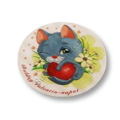Boldog Valentin napot cicás tortaostya