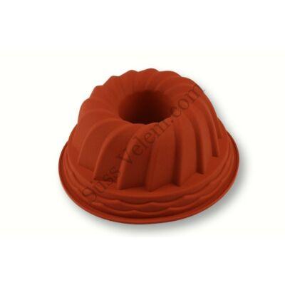 Bordás mintázatú szilikon csőrös kuglóf sütőforma