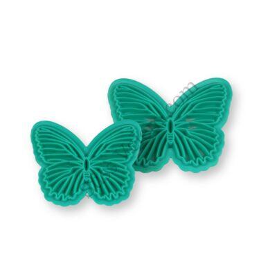 Csíkos pillangó fondant mintázó