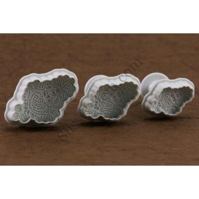 Csipke mintás marcipán kiszúró 3 részes