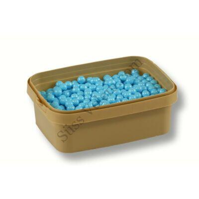 Türkizkék cukorgyöngy 7 mm 20 dkg