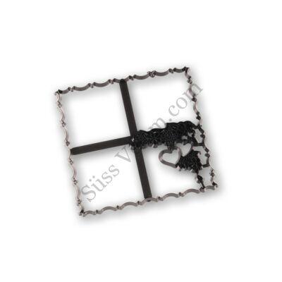 Díszes négyzet patchwork fondant kiszúró