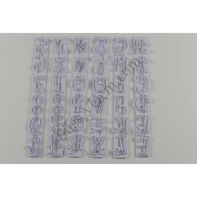 Díszes betűk és számok fondant mintázó, formázó