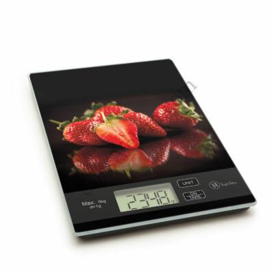 Eper mintás digitális konyhai mérleg