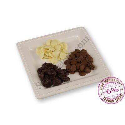 Ét-, tej-és fehér csokoládé korong csomag