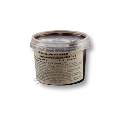 Étcsokoládés tükörmáz (40%) 250 gr