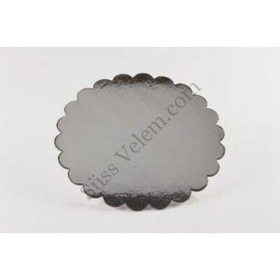 Fodros szélű 35 cm-es ezüst színű tortakarton