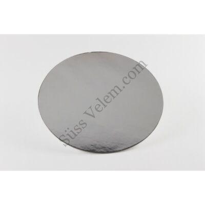21 cm-es kerek ezüst színű tortakarton
