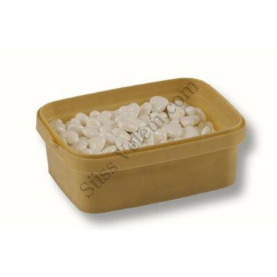 Fehér szív alakú cukorgyöngy 20 dkg